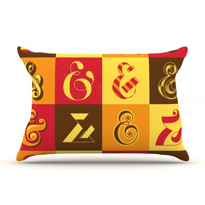 Ampersands by Roberlan Featherweight Pillow Sham Size: Queen, Fabric: Woven Polyester