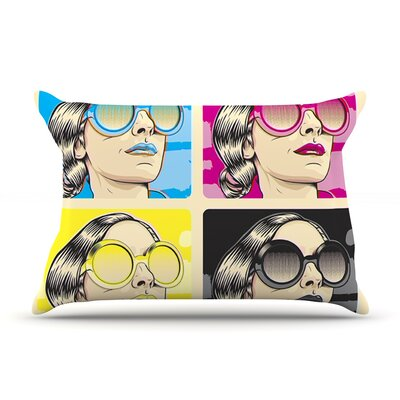 CMYK Fashion by Roberlan Featherweight Pillow Sham Size: King, Fabric: Woven Polyester
