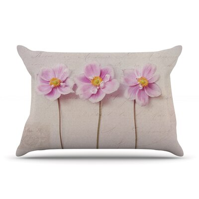 Anemone Trio by Sylvia Cook Featherweight Pillow Sham Size: King, Fabric: Woven Polyester