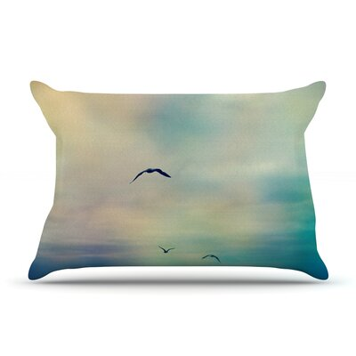 Freedom by Sylvia Cook Featherweight Pillow Sham Size: King, Fabric: Woven Polyester