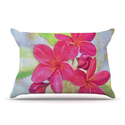 Plumeria by Sylvia Cook Featherweight Pillow Sham Size: Queen, Fabric: Woven Polyester