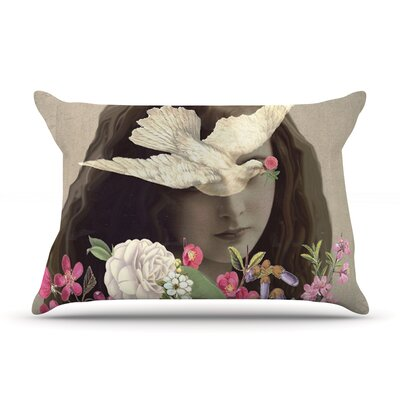 Doves Eyes by Suzanne Carter Featherweight Pillow Sham Size: Queen, Fabric: Woven Polyester