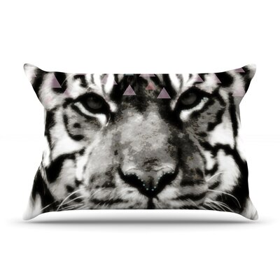 Tiger Face by Suzanne Carter Featherweight Pillow Sham Size: King, Fabric: Woven Polyester