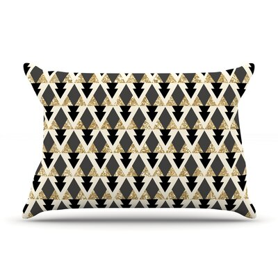 Nika Martinez Glitter Triangles Geometric Pillow Case