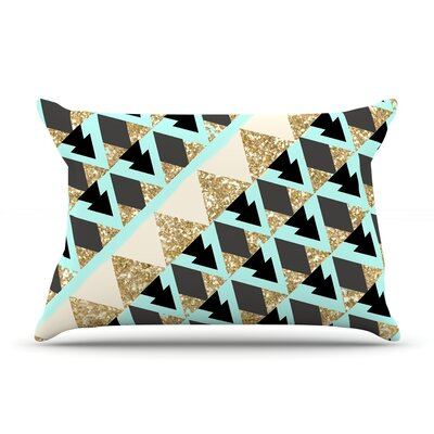 Glitter Triangles by Nika Martinez Featherweight Pillow Sham Size: King, Fabric: Woven Polyester