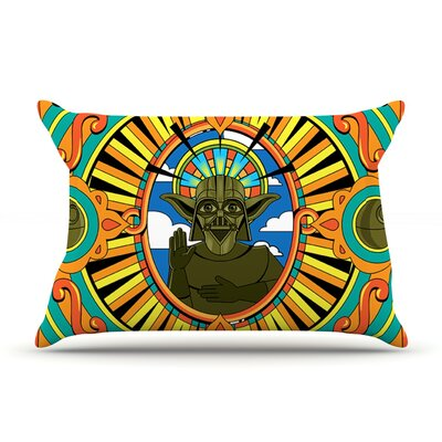 Darth Yoda by Roberlan Featherweight Pillow Sham Size: King, Fabric: Woven Polyester