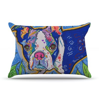 Rebecca Fischer Addy Mae Pug Terrier Pillow Case