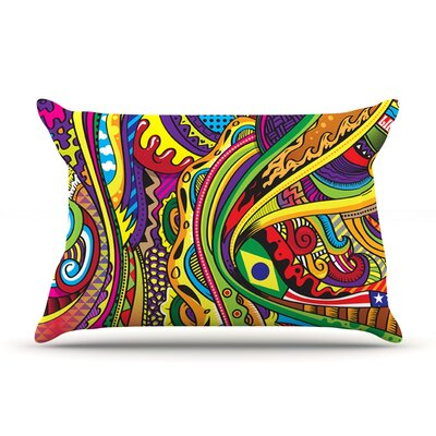 Roberlan Doodle Rainbow Abstract Pillow Case