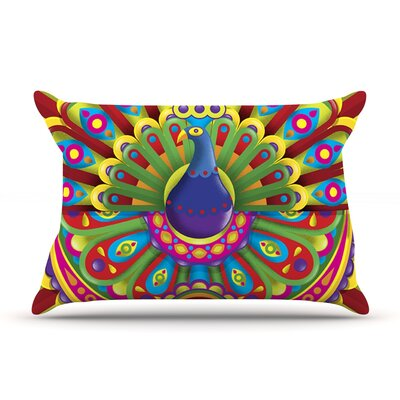Roberlan Peacolor Rainbow Peacock Pillow Case