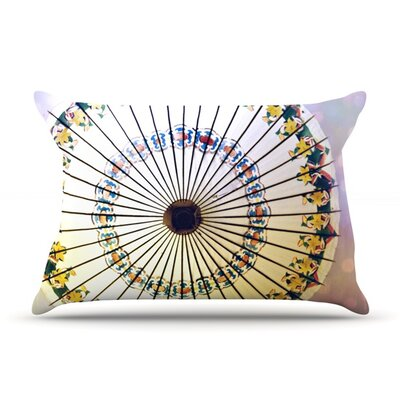 Parasol by Sylvia Cook Featherweight Pillow Sham Size: King, Fabric: Woven Polyester