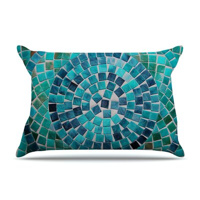 Circular by Sylvia Cook Featherweight Pillow Sham Size: Queen, Fabric: Woven Polyester