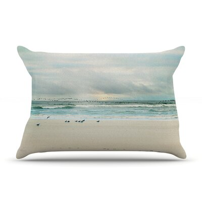 Flight by Sylvia Cook Featherweight Pillow Sham Size: Queen, Fabric: Woven Polyester