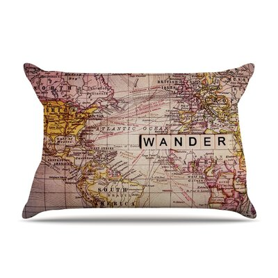 Wander by Sylvia Cook Featherweight Pillow Sham Size: King, Fabric: Woven Polyester