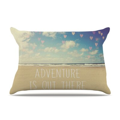 Adventure is Out There by Sylvia Cook Featherweight Pillow Sham Size: King, Fabric: Woven Polyester