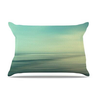Beach by Sylvia Cook Featherweight Pillow Sham Size: King, Fabric: Woven Polyester