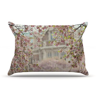 Pink Dream by Sylvia Cook Featherweight Pillow Sham Size: King, Fabric: Woven Polyester