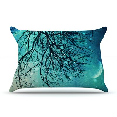 Winter Moon by Sylvia Cook Featherweight Pillow Sham Size: Queen, Fabric: Woven Polyester