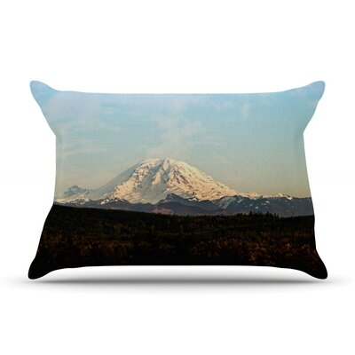 Mt. Rainier by Sylvia Cook Featherweight Pillow Sham Size: Queen, Fabric: Woven Polyester