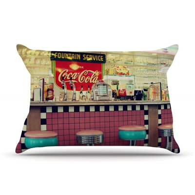 Retro Diner by Sylvia Cook Featherweight Pillow Sham Size: King, Fabric: Woven Polyester