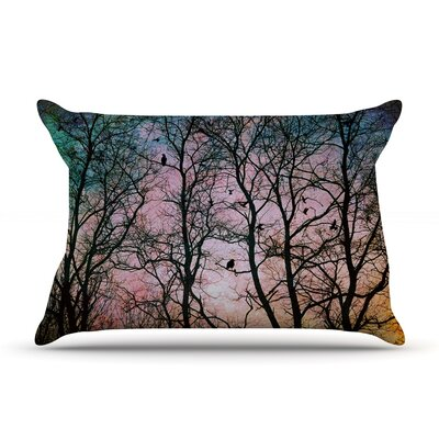 The Birds by Sylvia Cook Featherweight Pillow Sham Size: King, Fabric: Woven Polyester