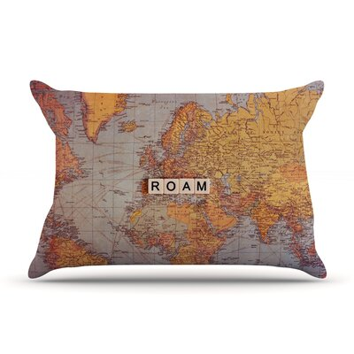 Seattle Skyline by Sylvia Cook Featherweight Pillow Sham Size: Queen, Fabric: Woven Polyester