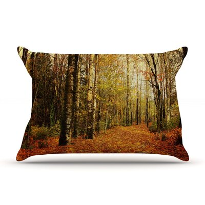 Autumn Leaves by Sylvia Cook Featherweight Pillow Sham Size: King, Fabric: Woven Polyester