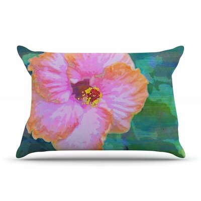 Hibiscus by Sylvia Cook Featherweight Pillow Sham Size: Queen, Fabric: Woven Polyester
