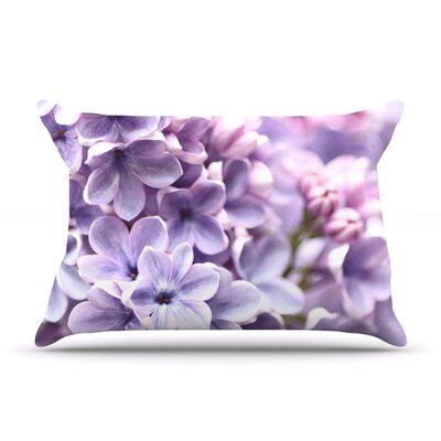 Lilac by Sylvia Cook Featherweight Pillow Sham Size: Queen, Fabric: Woven Polyester