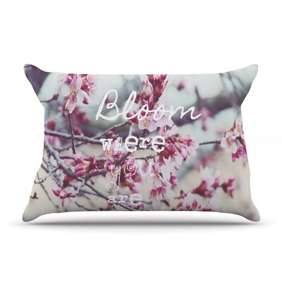 Bloom Pink by Suzanne Carter Featherweight Pillow Sham Size: King, Fabric: Woven Polyester