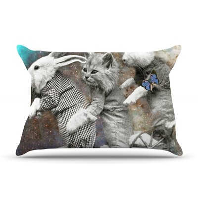 Space Travel by Suzanne Carter Featherweight Pillow Sham Size: King, Fabric: Woven Polyester