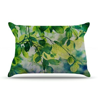 Leaves by Sylvia Cook Featherweight Pillow Sham Size: Queen, Fabric: Woven Polyester