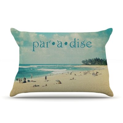 Paradise by Sylvia Cook Featherweight Pillow Sham Size: Queen, Fabric: Woven Polyester
