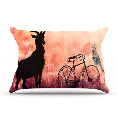 Vintage Forest by Suzanne Carter Featherweight Pillow Sham Size: Queen, Fabric: Woven Polyester