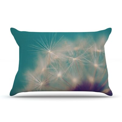 Dandelion Seedhead by Sylvia Cook Featherweight Pillow Sham Size: Queen, Fabric: Woven Polyester
