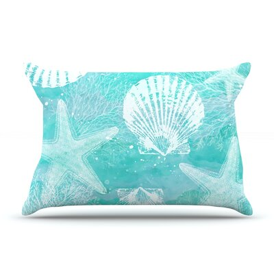 Seaside by Sylvia Cook Featherweight Pillow Sham Size: King, Fabric: Woven Polyester