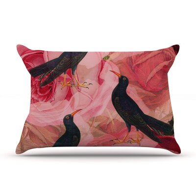 Song Bird Cush by Suzanne Carter Featherweight Pillow Sham Size: King, Fabric: Woven Polyester
