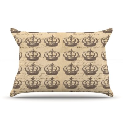 Crowns by Suzanne Carter Featherweight Pillow Sham Size: King, Fabric: Woven Polyester