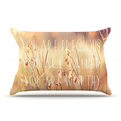You are Precious by Suzanne Carter Featherweight Pillow Sham Size: King, Fabric: Woven Polyester