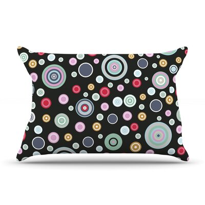 Circle Circle II by Suzanne Carter Featherweight Pillow Sham Size: King, Fabric: Woven Polyester