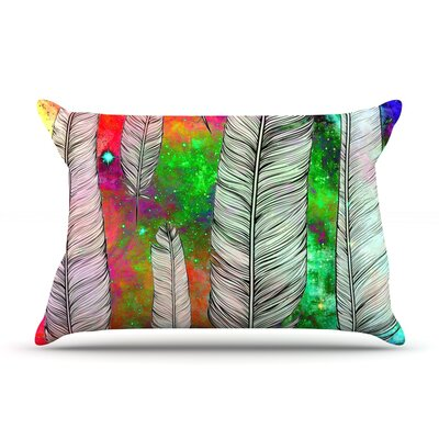 Suzanne Carter Feather Rainbow Space Pillow Case