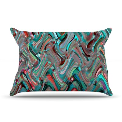 Abstract Wave by Suzanne Carter Featherweight Pillow Sham Size: King, Fabric: Woven Polyester