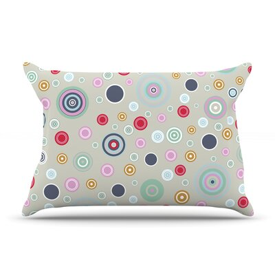 Circle Circle I by Suzanne Carter Featherweight Pillow Sham Size: King, Fabric: Woven Polyester