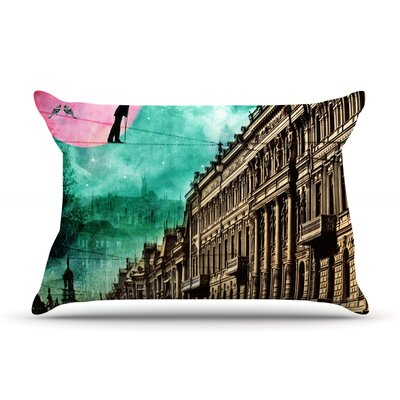 Moonlight Stroll by Suzanne Carter Featherweight Pillow Sham Size: Queen, Fabric: Woven Polyester