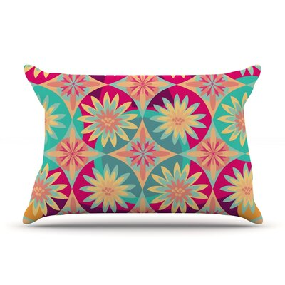 Happy Flowers by Nika Martinez Featherweight Pillow Sham Size: King, Fabric: Woven Polyester