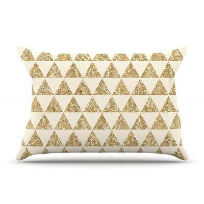 Glitter Triangles by Nika Martinez Featherweight Pillow Sham Size: Queen, Fabric: Woven Polyester