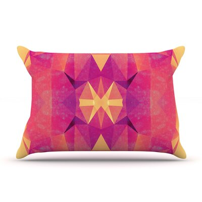 Retro Pink Geometrie by Nika Martinez Featherweight Pillow Sham Size: King, Fabric: Woven Polyester