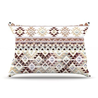 Nika Martinez 'Tribal Native In Pastel Brown' Pillow Case