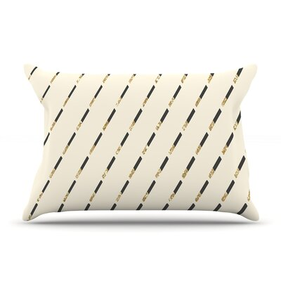 Nika Martinez 'Glitter Diagonals' Pillow Case