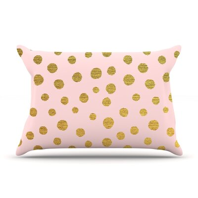 Nika Martinez 'Golden Dots' Blush Pillow Case