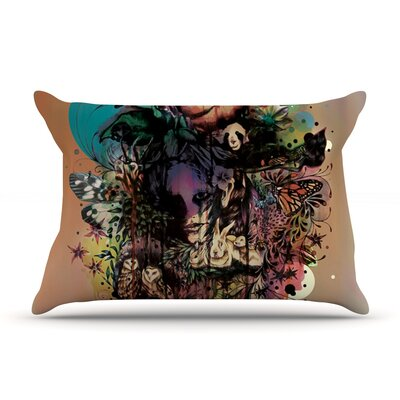 Mat Miller Doom And Bloom Dark Rose Pillow Case